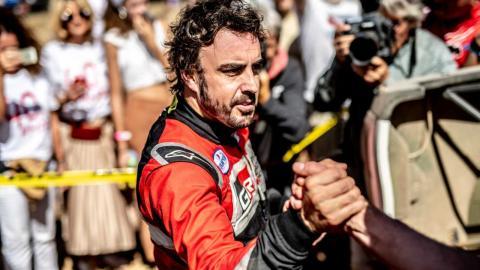 Fernando Alonso en el Rally de Marruecos