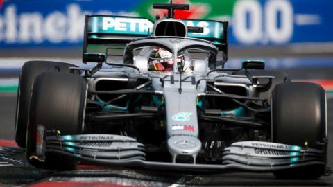 Lewis Hamilton en el GP de México