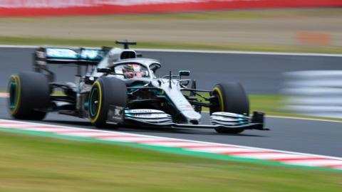Mercedes F1 en Suzuka