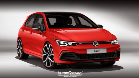 Render Volkswagen Golf GTI 2020