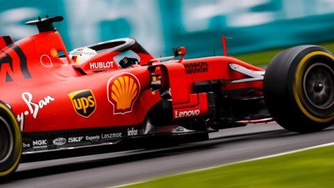 Sebastian Vettel en el GP de México