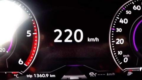 A 220 km/h