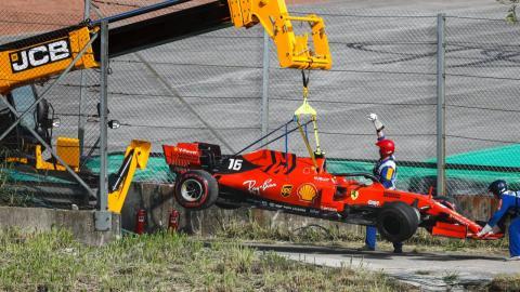 Accidente de Leclerc en Brasil
