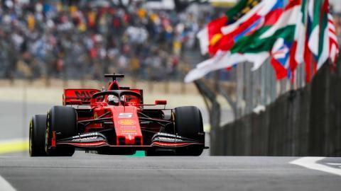 Sebastian Vettel en el GP de Brasil