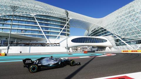 Valtteri Bottas en Abu Dhabi