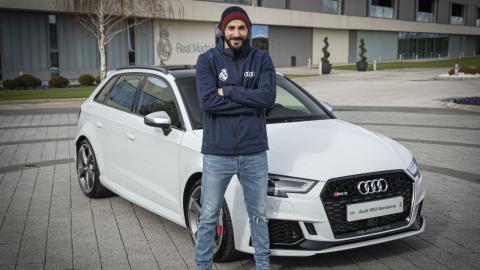Los Audi de los jugadores del Real Madrid