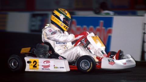 Ayrton Senna en karting