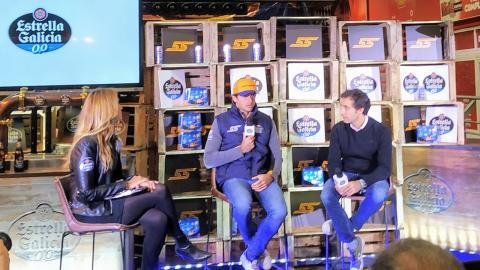 Carlos Sainz en evento de Estrella Galicia