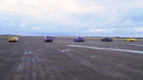 BMW M8 vs Audi R8 vs Mercedes-AMG GT 4p vs el Porsche 911 vs el Tesla Model X