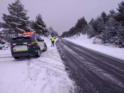 Guardia Civil en la nieve
