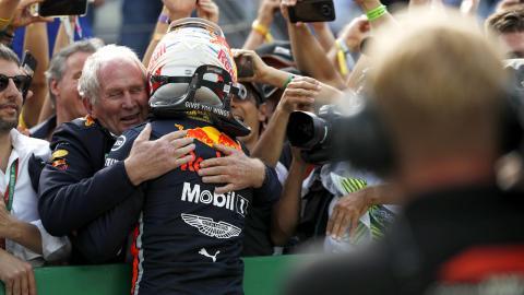 Max Verstappen y Helmut Marko