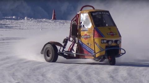 triumph 675 preparaciones derrapar nieve hielo circuito