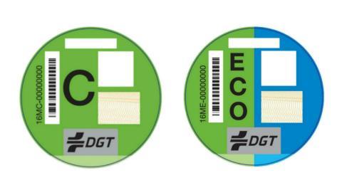 Etiqueta C y etiqueta Eco