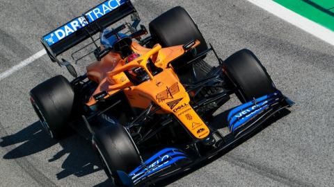 McLaren MCL35 en los test de Barcelona