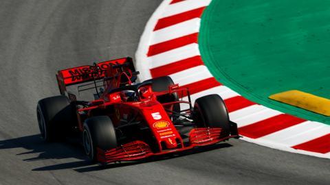 Test de Ferrari en Barcelona