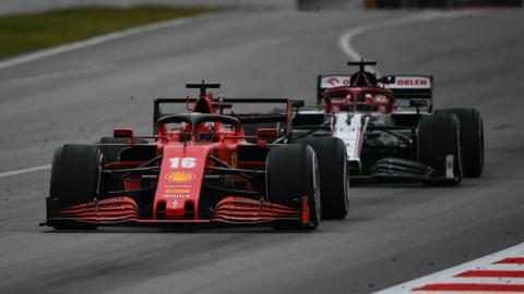 Charles Leclerc y Kimi Räikkönen