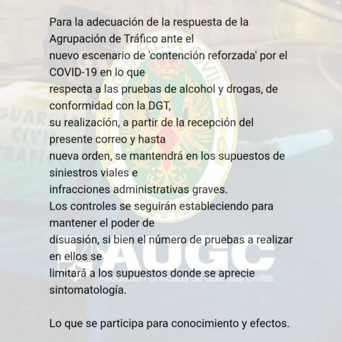 Comunicado Guardia Civil