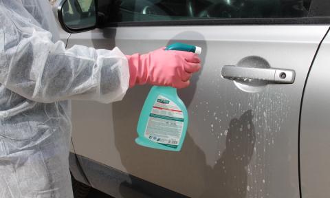 desinfectar coche COVID-19
