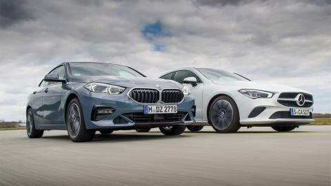 BMW 218i Gran Coupé Vs Mercedes CLA 180 Coupé