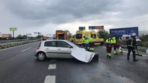 dos guardias civiles heridos Madrid asistian accidente