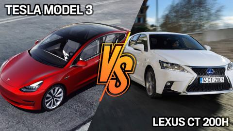 Lexus Ct 200h o Tesla Model 3