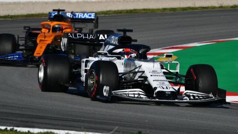 McLaren y AlphaTauri F1