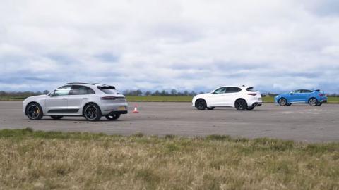 Audi RS Q3 Sportback vs Porsche Macan Turbo vs Alfa Romeo Stelvio QV