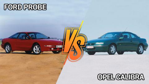 Compa oldie: Opel Calibra contra Ford Probe