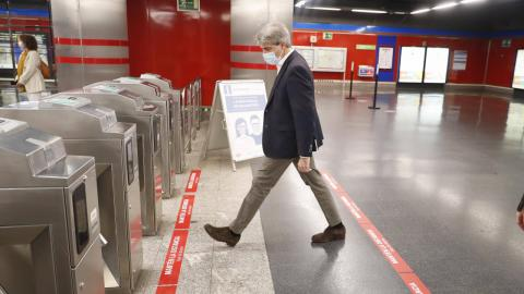 Mascarilla en transporte público