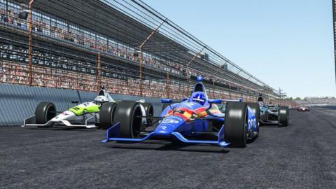 Fernando Alonso en carrera virtual indianapolis