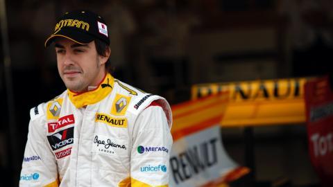 Fernando Alonso con Renault en 2009