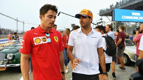 Leclerc y Sainz