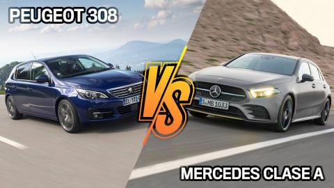 Peugeot 308 o Mercedes Clase A, ¿cuál es mejor compra?