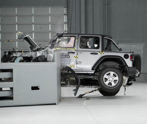 Prueba de impacto Jeep Wrangler
