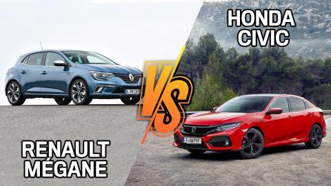 Renault Mégane u Honda Civic de segunda mano: ¿cuál es más barato?