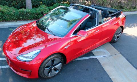 El Tesla Model 3 Cabrio que nunca podrás conducir en España