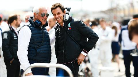 Toto Wolff y Lawrence Stroll