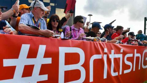 Aficionados en el GP Gran Bretaña