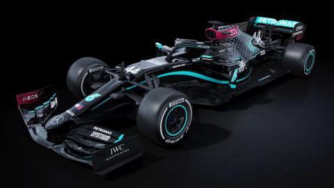 Mercedes F1 decoración negra