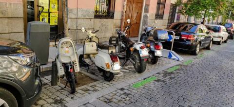 La mitad de las motos podrían quedarse sin circular por falta de etiqueta