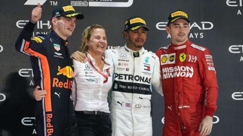 Podio F1 2020 Abu Dhabi