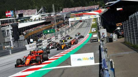 Salida GP Austria F1 2019