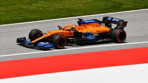Carlos Sainz en la clasificación de Austria