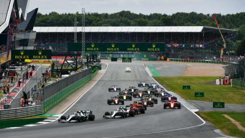 Salida GP Gran Bretaña 2019