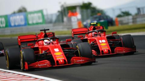Vettel y Leclerc, Ferrari F1 2020