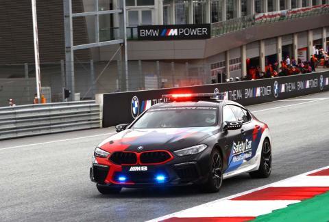 BMW M8 Gran Coupe safety car MotoGP 2020