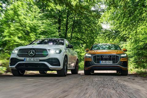 Comparativa del Mercedes GLE Coupé vs Audi Q8