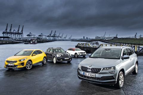 Kia XCeed-VW T-Roc-Mini Countryman-Skoda Karoq
