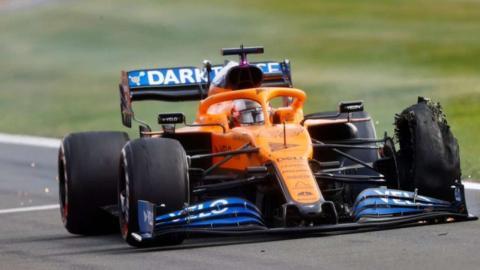 Pinchazo Carlos Sainz en Silverstone