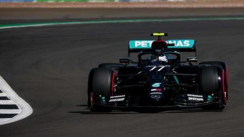 Valtteri Bottas en Silverstone
